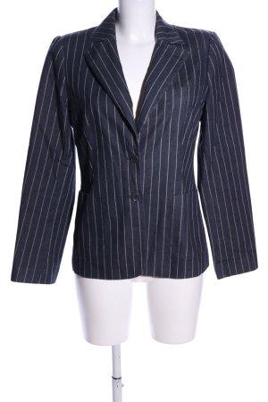 More & More Blazer in jeans grigio chiaro-bianco stampa integrale