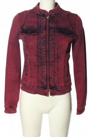 More & More Jeansjacke rot-blau Casual-Look