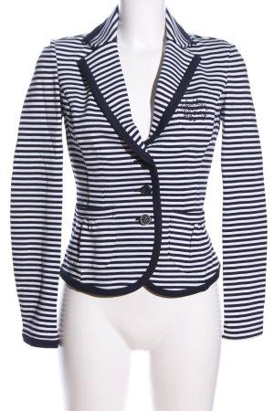 More & More Jerseyblazer schwarz-weiß Streifenmuster Casual-Look