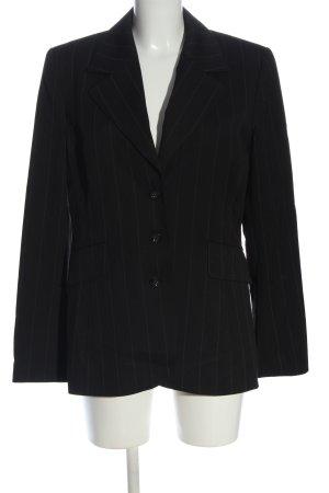 More & More Blazer in jersey nero-bianco motivo a righe stile professionale