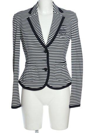 More & More Jersey blazer zwart-wit gestreept patroon casual uitstraling