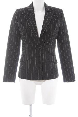 More & More Jerseyblazer schwarz-weiß Streifenmuster Business-Look