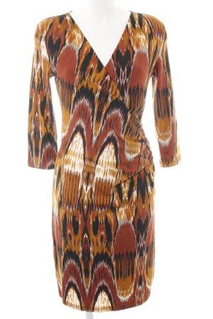 More & More Jerseykleid abstraktes Muster extravaganter Stil