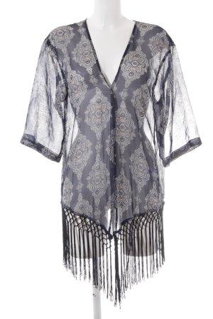 More & More Kimono-Bluse abstraktes Muster Beach-Look
