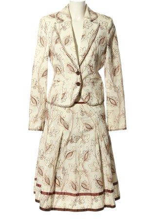 More & More Tailleur bianco sporco-marrone stampa integrale stile professionale