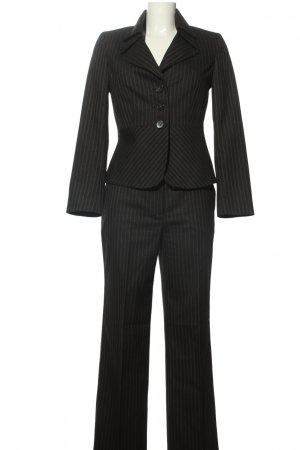 More & More Damespak zwart gestreept patroon zakelijke stijl