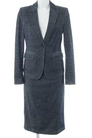 More & More Kostüm dunkelblau-weiß meliert 90ies-Stil
