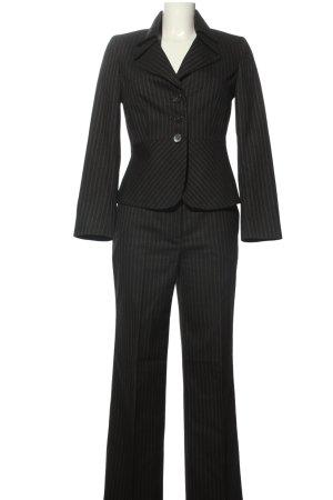 More & More Kostüm schwarz Streifenmuster Business-Look