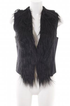 More & More Kamizelka ze sztucznym futrem czarny W stylu casual