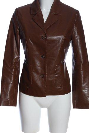 More & More Veste en cuir synthétique brun style d'affaires