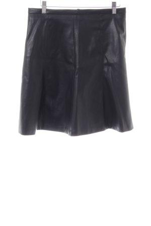 More & More Rok van imitatieleder zwart extravagante stijl