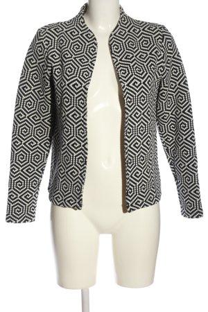 More & More Korte blazer wit-zwart volledige print casual uitstraling