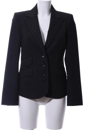More & More Korte blazer zwart gestreept patroon zakelijke stijl