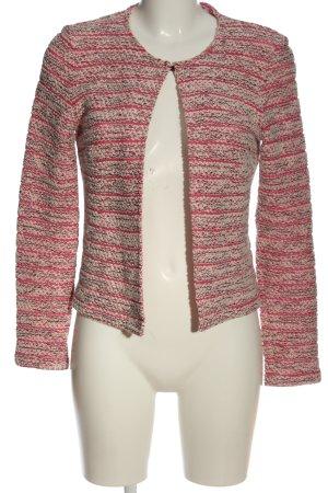 More & More Korte blazer gestreept patroon casual uitstraling