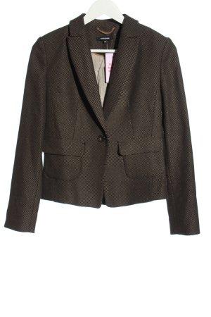 More & More Korte blazer bruin gestippeld elegant