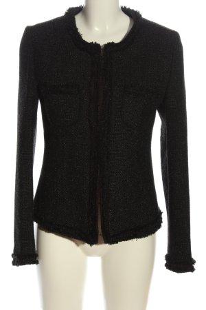 More & More Kurz-Blazer schwarz-silberfarben meliert Casual-Look
