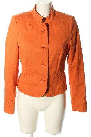 More & More Korte blazer licht Oranje casual uitstraling