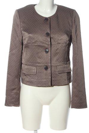 More & More Korte blazer bruin volledige print casual uitstraling