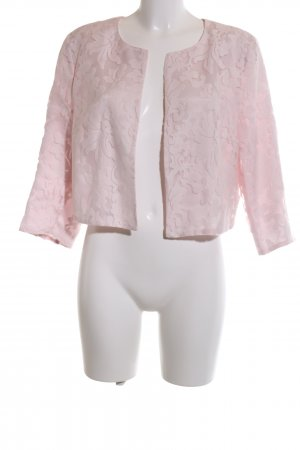 More & More Kurz-Blazer pink grafisches Muster Business-Look