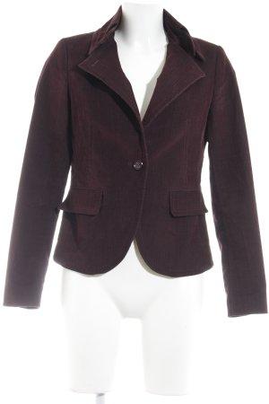 More & More Kurz-Blazer braunviolett Business-Look
