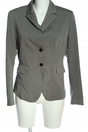More & More Kurz-Blazer hellgrau Allover-Druck Business-Look