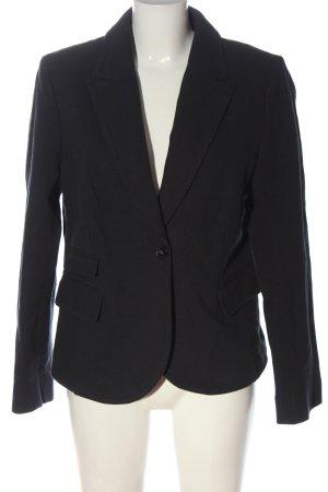 More & More Korte blazer lichtgrijs-zwart volledige print zakelijke stijl
