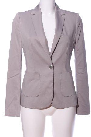 More & More Korte blazer lichtgrijs zakelijke stijl