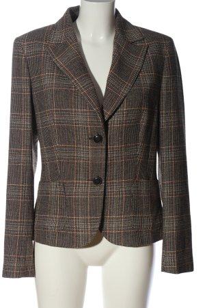 More & More Korte blazer bruin-licht Oranje geruite print zakelijke stijl