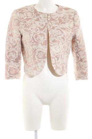 More & More Kurz-Blazer nude-creme Blumenmuster Business-Look