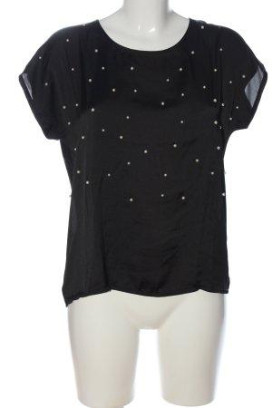 More & More Kurzarm-Bluse schwarz Casual-Look