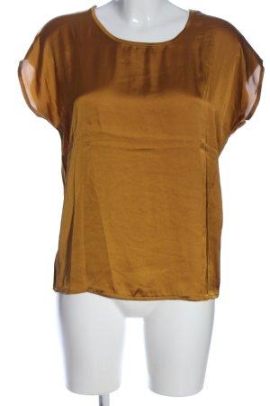 More & More Kurzarm-Bluse bronzefarben meliert Casual-Look