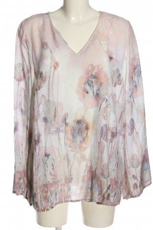 More & More Kurzarm-Bluse Allover-Druck Casual-Look