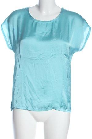 More & More Kurzarm-Bluse blau Casual-Look