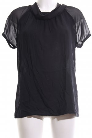 More & More Kurzarm-Bluse schwarz Elegant