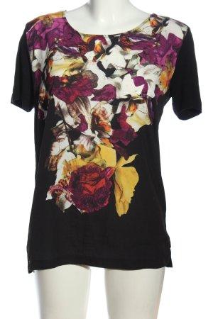 More & More Kurzarm-Bluse Blumenmuster Casual-Look
