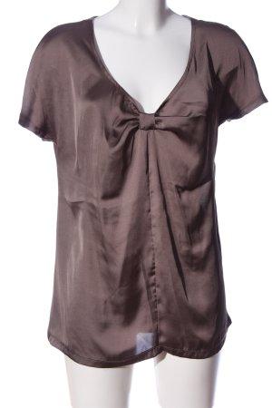 More & More Kurzarm-Bluse braun Elegant