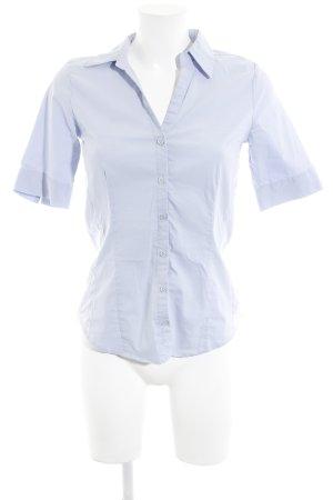 More & More Kurzarm-Bluse himmelblau Business-Look