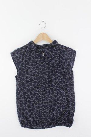 More&More Kurzarmbluse Größe 36 blau aus Polyester