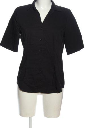 More & More Camisa de manga corta negro estilo «business»