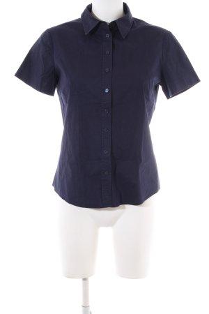 More & More Shirt met korte mouwen blauw zakelijke stijl