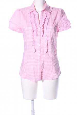 More & More Short Sleeve Shirt pink check pattern casual look