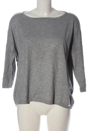 More & More Sweter z krótkim rękawem jasnoszary Melanżowy W stylu casual