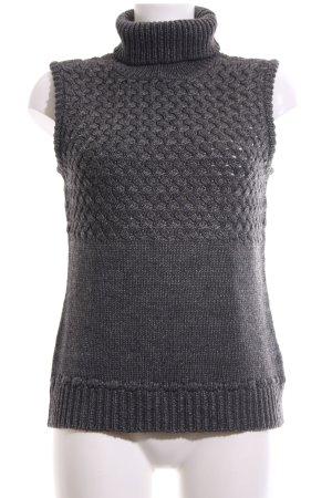 More & More Maglione a maniche corte grigio chiaro punto treccia stile casual