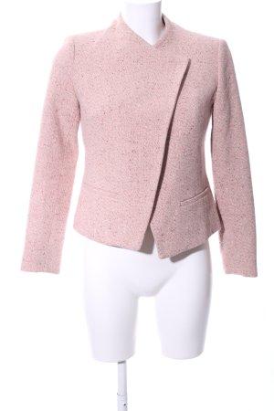More & More Kurzjacke pink-braun meliert Business-Look