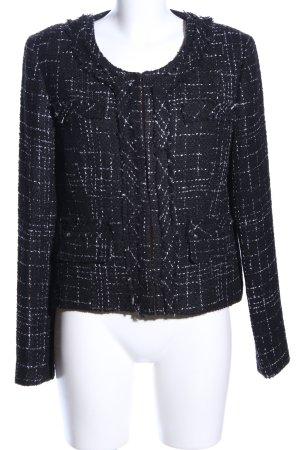 More & More Kurzjacke schwarz-weiß abstraktes Muster Casual-Look