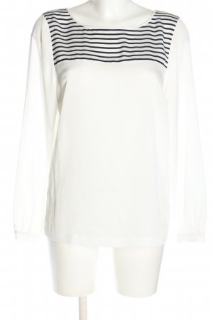 More & More Langarm-Bluse weiß-schwarz Streifenmuster Casual-Look