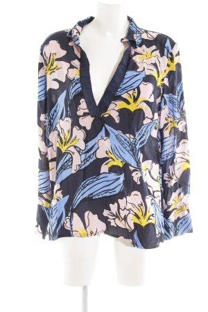 More & More Langarm-Bluse Blumenmuster Elegant