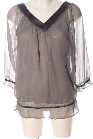 More & More Langarm-Bluse hellgrau Casual-Look