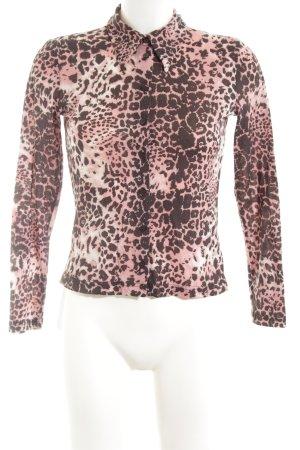 More & More Langarm-Bluse hellorange-braun Leomuster extravaganter Stil