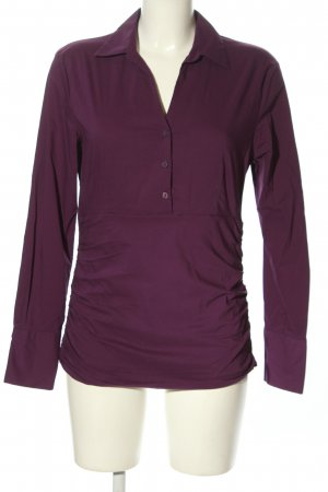 More & More Langarm-Bluse lila Casual-Look